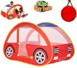 Kids Pop Up Red Car Play Tent