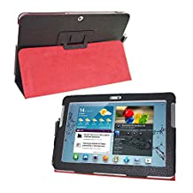Tab 2 10.1 gt-p5100 p5110 cover case-folio flip book cover case for samsung galaxy tab 2 10.1 magnetic pu leather stand cover (black)