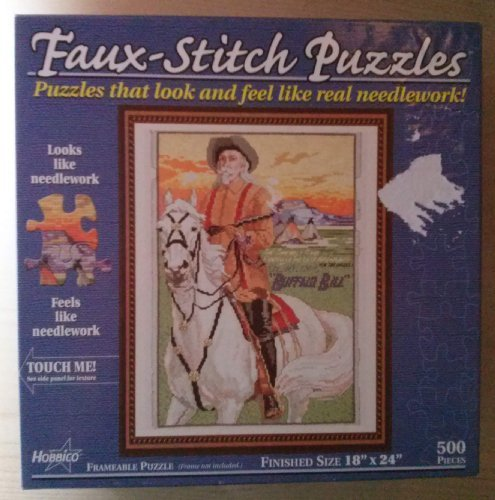 Faux-stitch Puzzle (Feels Like Real Needlework) Buffalo Bill 500 Pieces 18