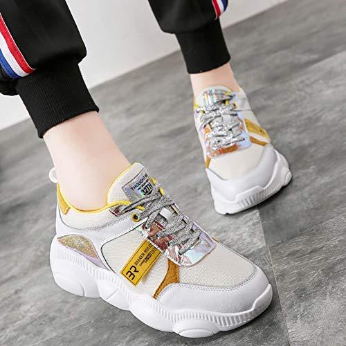 5 De Zapatos Zapatillas Oso Tamaño Con Estilo 7size Mujer Casual Zhijinli Deporte WfzcSS4