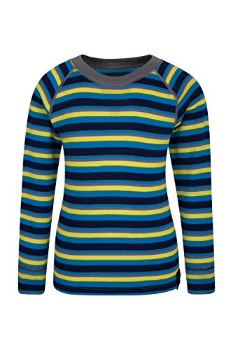 Mountain Warehouse Merino Kids Top- Breathable, Light Childrens Tshirt Blue 5-6 Years by Mountain Warehouse (Image #1)