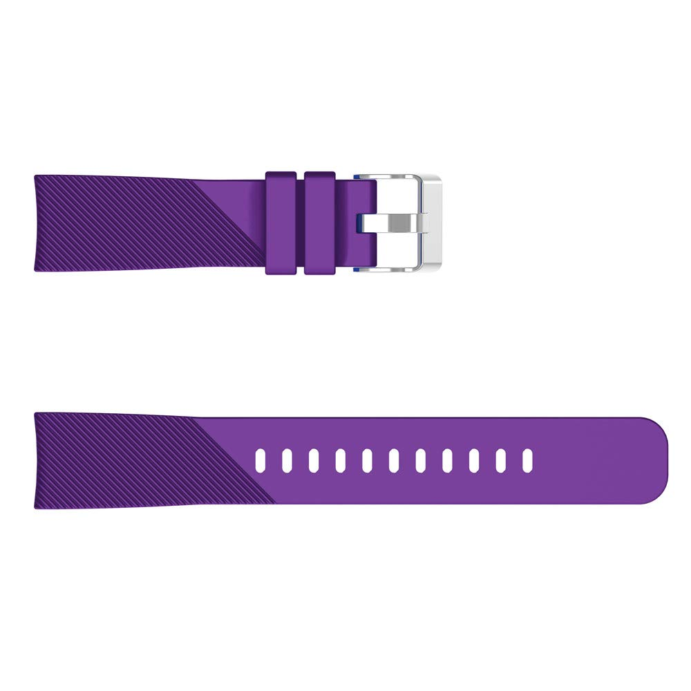 for Samsung Galaxy Watch 42mm Watch Bracelet Soft Silicone Twill Watch Band Replacement Band Strap for Samsung Galaxy Watch 42mm (Purple)