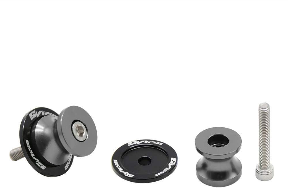 2pcs Nottolini M8*1,5 Forcellone Cavalletto Appoggi Per SUZUKI SV650 SV 650 SV650S SV650A SV650X-Argento