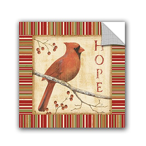 Daphne Brissonnet ''Hope With Border'' Removable Wall Art Mural, 18X18