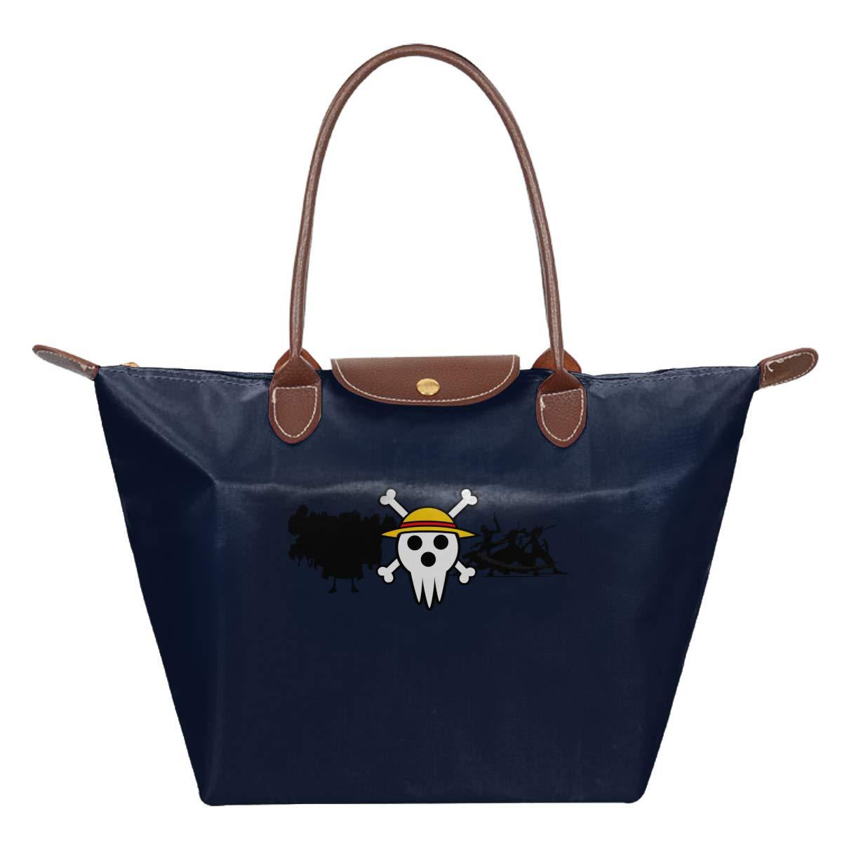One Piece Skull Flag Luffy Waterproof Leather Folded Messenger Nylon Bag Travel Tote Hopping Folding School Handbags