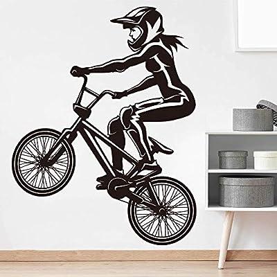 Calcomanías de pared de bicicleta BMX grandes para niñas ...