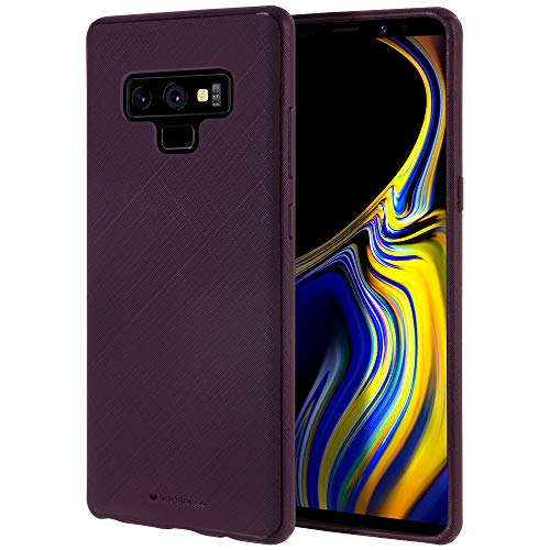 Galaxy Note 9 Case [Slim Fit] GOOSPERY Style LUX [Flexible] Rubber TPU Case [Non Slip] Bumper Cover [Lightweight] for Samsung Galaxy Note 9 -Matte Purple, - Alternating Notes