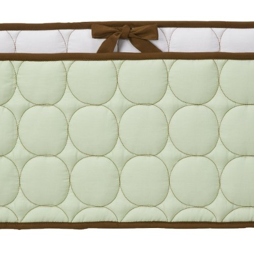 Quilted-Circles-GreenChoc-Bumper-Pad