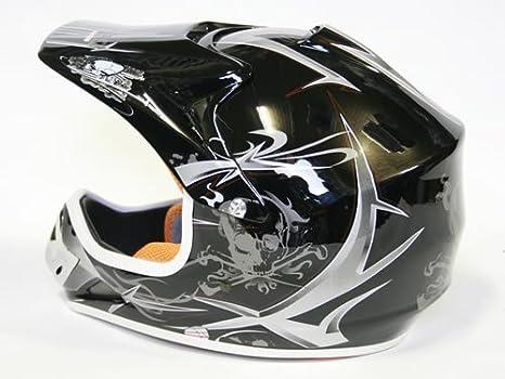 Nitro Motors - Casco de moto para niños (talla S), color negro: Amazon.es: Juguetes y juegos