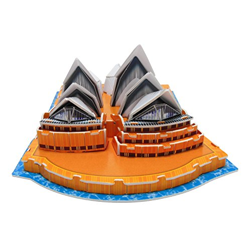 Creative 3D Puzzle Paper Model Sydney Opera House DIY Fun & Educational Toys World Great Architecture Series, 47 Pcs