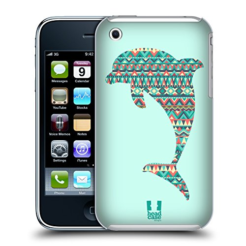Head Case Designs Dolphin Patterned Animal Silhouettes Hard Back Case for Apple iPhone 3G / 3GS - 3gs Hard Case