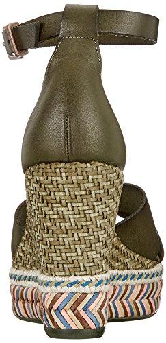 2014 unisex sale online clearance 2014 new Fred de la Bretoniere Women's Keilsandale Leder Ankle Strap Sandals Green (Dark Olive 7026) best seller Inexpensive discount low cost hxHYFv