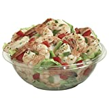 Classic 24 oz/1 1/2 lb Clear Plastic Carryout Bowl - 7 1/4''Dia x 2 1/2''D