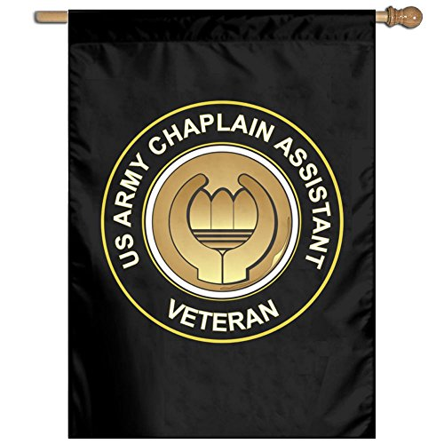 Chaplain Flag - Toxic Smo US Army Veteran Chaplain Assistant Vertical Flag 27 X 37 Inche Black