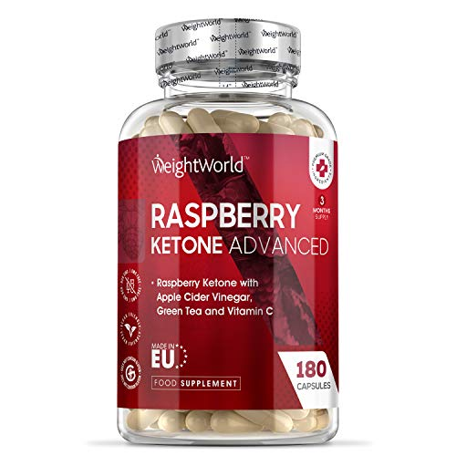 Raspberry Ketone Advanced – 1600mg Equivalent – 180 Capsules (3 Months Supply) – Strong Diet Capsules with Apple Cider…