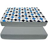 BlueSnail Strechy Waterproof Pack N Play Crib Mattress Cover Fitted Sheet -Fits All Baby Portable Mini Cribs, Play Yards and Foldable Mattresses - 2 Pack (Navy Anchor)