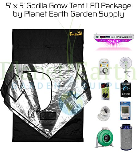 Gorilla Grow Tent (5' x 5') LED Combo Package #1