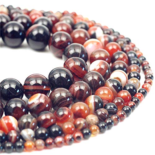 Oameusa 6mm Natural Brown Dream Agate Beads Round Smooth Beads DIY Materials Bracelet Necklace Earrings Making Jewelry Agate Beads for Jewelry Making 15