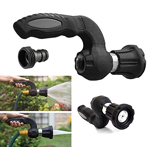 2019 The Perfect Nozzle Sprayer – – Mighty Power Hose Blaster Nozzle, Heavy Duty Comfort Grip Fireman Hose Sprayer for Car Wash, Lawn Watering Anti-Fatigue