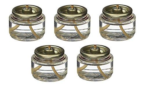 Fuel Oil Storage - D'light Online HD8-180 Liquid Wax Disposable Clear 8 Hour Tea Light Fuel Cell Oil Candle Cartridge Disposable Liquid Paraffin - Set of 180 Liquid Tealights