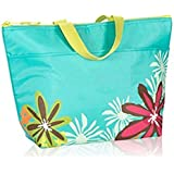 Defective Thirty One Thermal Tote in Turquoise with Daisy Craze