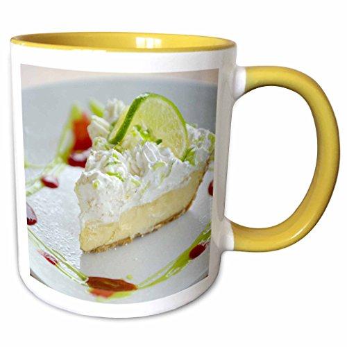 3dRose Danita Delimont - Desserts - Key Lime Pie, Dessert, Gulf Shores, Alabama - US01 FVI0023 - Franklin Viola - 11oz Two-Tone Yellow Mug - Gulf Outlet Shores