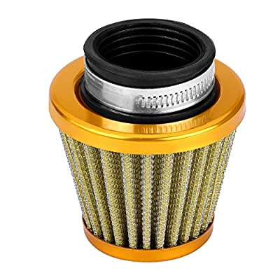 Air Filter with Clamp, 38mm Air Filter Intake Induction Kit for Off-road Motorcycle ATV Quad Dirt Pit Bike(Gold): Automotive