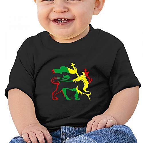 Antonia Bellamy Cool Rasta Lion Reggae Baby Boys' Toddler Infant Cute Short Sleeve T-Shirts Tees - Lion Soft T-shirt