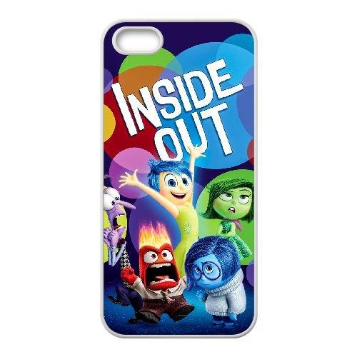 L5F85 Inside Out M7I6SE coque iPhone 5 5s cellule de cas de téléphone couvercle coque blanche XE6SRD7TV