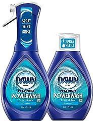 Dawn Platinum Powerwash Dish Spray Starter Kit, Dish Soap, Fresh Scent Bundle, 1 Starter Kit plus 1 Refill (16