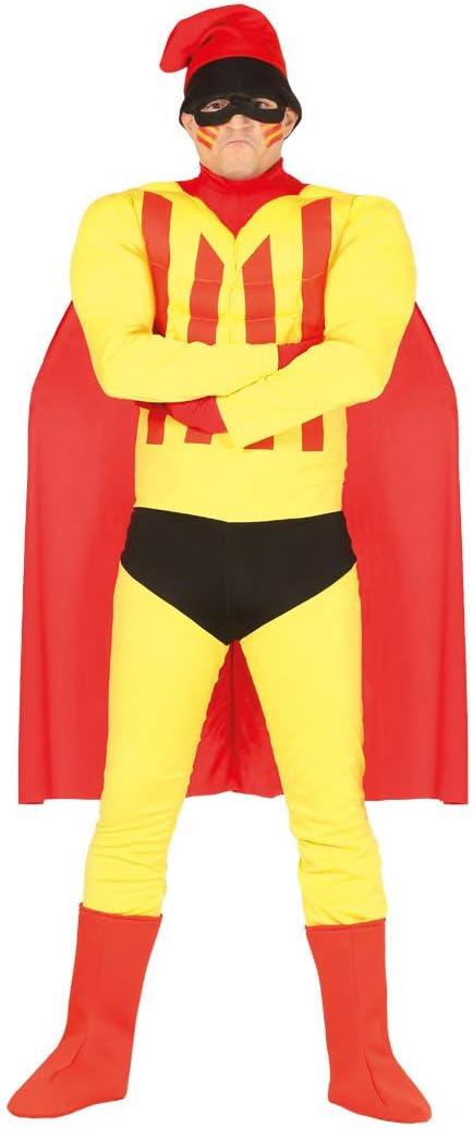 Guirca-88575 Disfraz Adulto Superheroe CataluñaT52-54, Multicolor ...