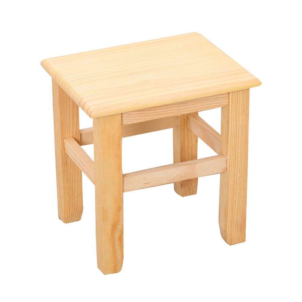 Wood color 272125cm Small Stool-Creative Living Room Coffee Table Stool Change shoes Stool Adult Stool Back Home Low Stool FENPING (color   Wood color, Size   27  21  25cm)