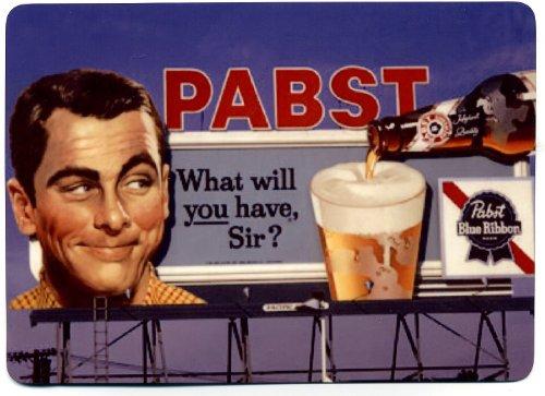 Old Milwaukee Beer Signs - Pabst Blue Ribbon - Metal Billboard Counter Display - 5