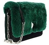 Roberto Cavalli HXLPG9 070 Green Shoulder Bag for Womens