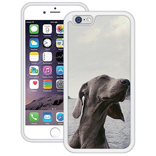 Windhund | Handgefertigt | iPhone 6 6s (4,7') | Weiß Hülle