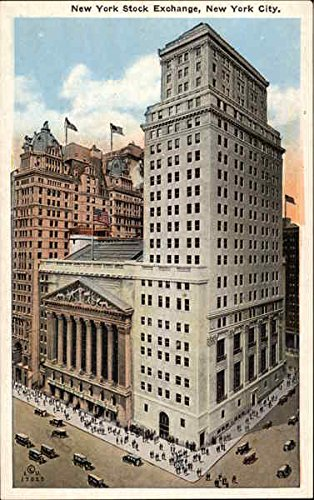 New York Stock Exchange New York Original Vintage Postcard