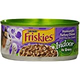 Friskies Wet Cat Food, Indoor, Homestyle Turkey Dinner, 5.5-Ounce Can, Pack of 24
