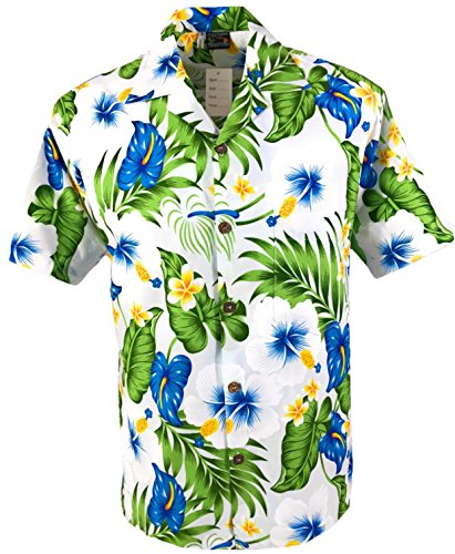 Tropical Luau Beach Print Men's Hawaiian Aloha Shirt