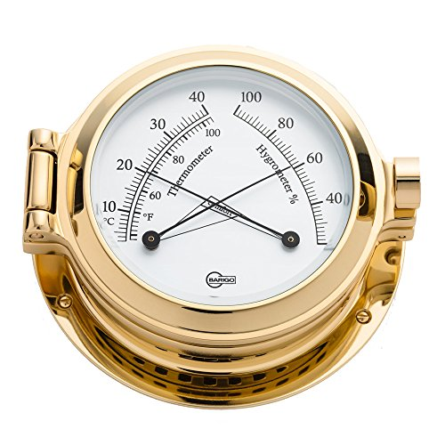 Barigo 1330MS Poseidon Series Porthole Ships Comfortmeter, Brass