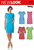 Simplicity Creative Patterns New Look 6176 Misses' Dress with Sleeve Variations, A (8-10-12-14-16-18)