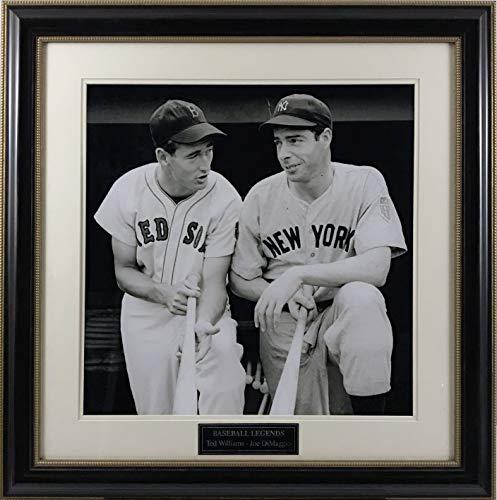 Joe DiMaggio & Ted Williams Framed 16x20 Photo