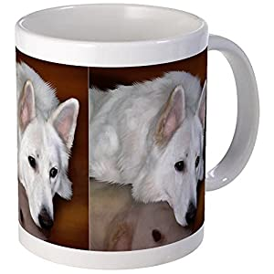 CafePress White German Shepherd Dog Mug Unique Coffee Mug, Coffee Cup 4