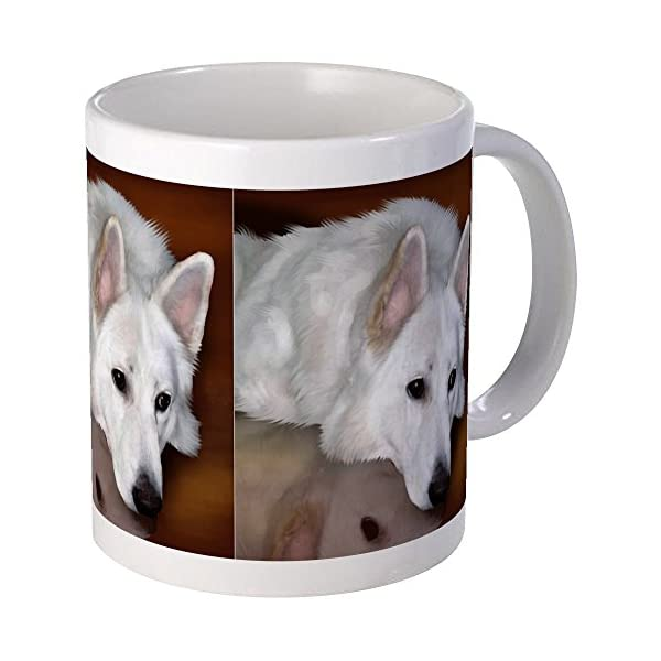 CafePress White German Shepherd Dog Mug Unique Coffee Mug, Coffee Cup 1