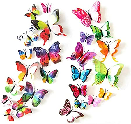 3D Spray Butterfly GN834 Wallpaper Mural Decal Mural Photo Sticker Decal Wall Self-Adhesive Wall Art Design 3d printed Removable Wallpaper