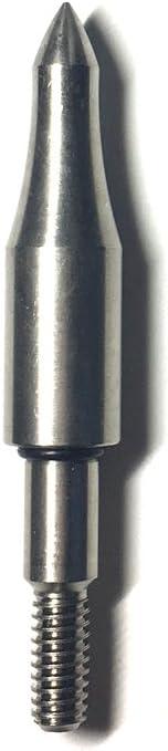 KOWinner Bullet Field Points 5/16'' Replacement Target Practice Screw-in Arrow Tips for DIY Flying Arrow Archery Arrowhead 12 Pack