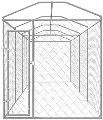 vidaXL Perrera para Exterior 8x2x2,4 m Acero Galvanizado 16 m² Jaula de Perros: Amazon.es: Productos para mascotas