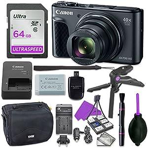 Flashandfocus.com 51hUVw4bIEL._SS300_ Canon Powershot SX730 Point & Shoot Digital Camera Bundle w/Tripod Hand Grip, 64GB SD Memory, Case and More