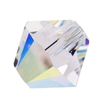26b4f6254 Amazon.com: 100pcs 6mm Adabele Austrian Bicone Crystal Beads Clear AB  Compatible with Swarovski Crystals Preciosa 5301/5328 SSB602: Everything  Else