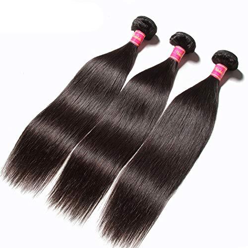 Hair 1Pcs/3Pcs/4Pcs Bundles Malaysian Straight Hair Weaves 100% Human Hair Bundles 8-30inch,16 18 20 22 ()