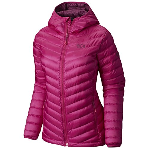 Mountain Hardwear Women's Nitrous Hooded Down Jacket, Deep Blush, XS
